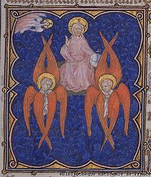 From a 14th century illuminated manuscript, image courtesy of Bibliotheque nationale de France