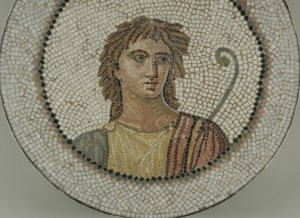 Mosaic of Male Figure in Medallion, 1st-2nd century C.E. Brooklyn Museum