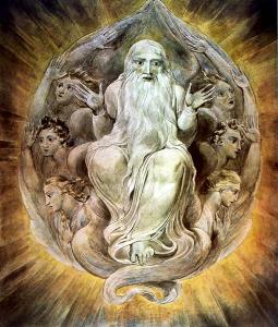 God blessing the seventh day, William Blake