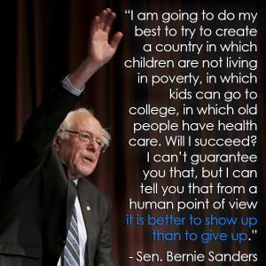 Bernie on a world